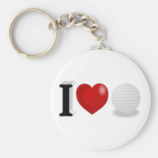 I Love Golf 3D Key Chains