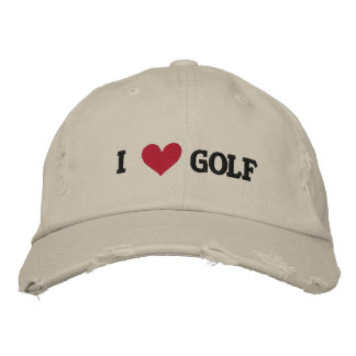 'I LOVE GOLF' BASEBALL CAP