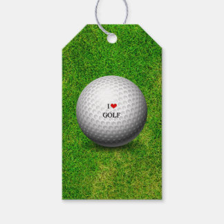 I Love Golf Gift Tags