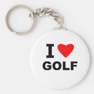 I Love Golf Key Ring