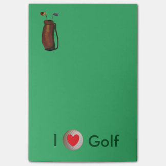 """I Love Golf"" Post-it® Notes 4 x 6"