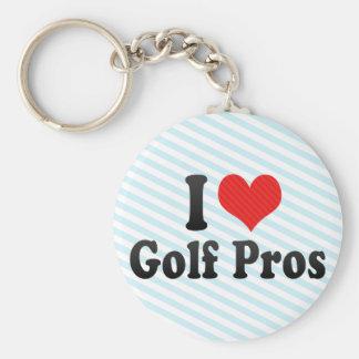 I Love Golf Pros Key Chains