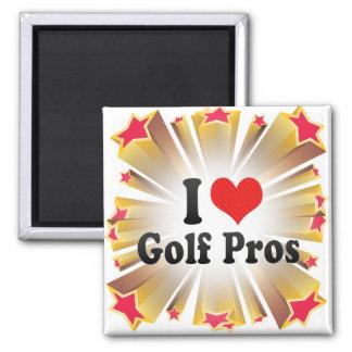 I Love Golf Pros Magnet