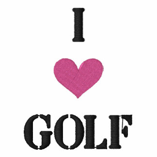 """I LOVE GOLF"" SHIRT - Customized EMBROIDERY Embroidered Shirt"