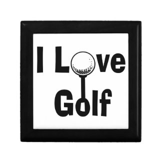 I Love Golf Small Square Gift Box
