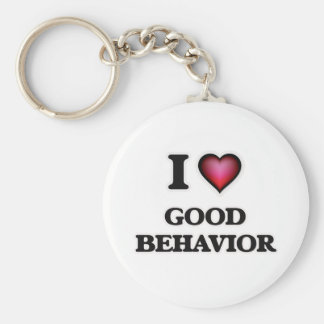 I love Good Behavior Key Ring