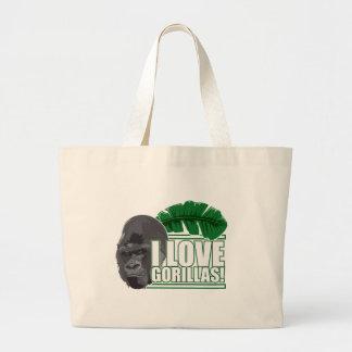 I love gorillas canvas bag