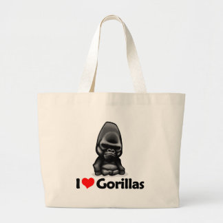 I Love Gorillas Canvas Bags