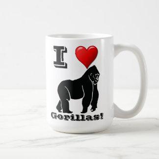I Love Gorillas Coffee Mug
