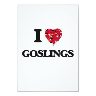I Love Goslings 9 Cm X 13 Cm Invitation Card