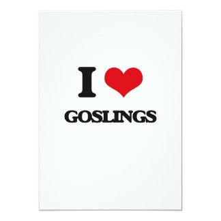 "I love Goslings 5"" X 7"" Invitation Card"