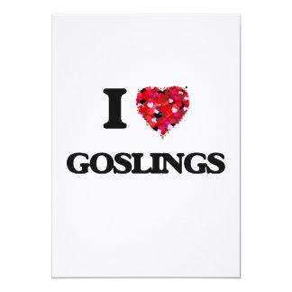 I Love Goslings 13 Cm X 18 Cm Invitation Card