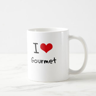 I Love Gourmet Coffee Mug