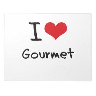 I Love Gourmet Memo Note Pads