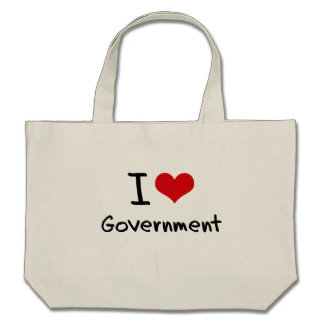 I Love Government Canvas Bag