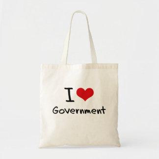 I Love Government Canvas Bag