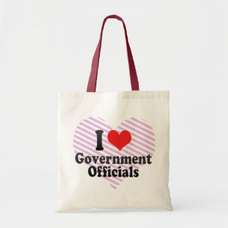 I Love Government Officials Canvas Bag