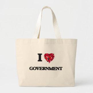 I Love Government Jumbo Tote Bag