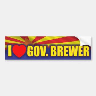 I Love Governor Brewer Car Bumper Sticker