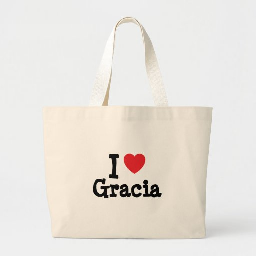 I love Gracia heart T-Shirt Canvas Bag