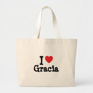 I love Gracia heart T-Shirt Canvas Bag