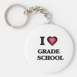 I love Grade   School Key Ring