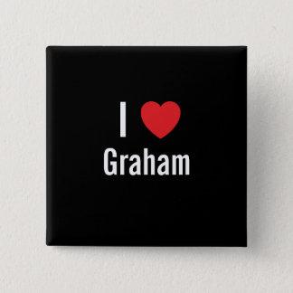 I love Graham 15 Cm Square Badge
