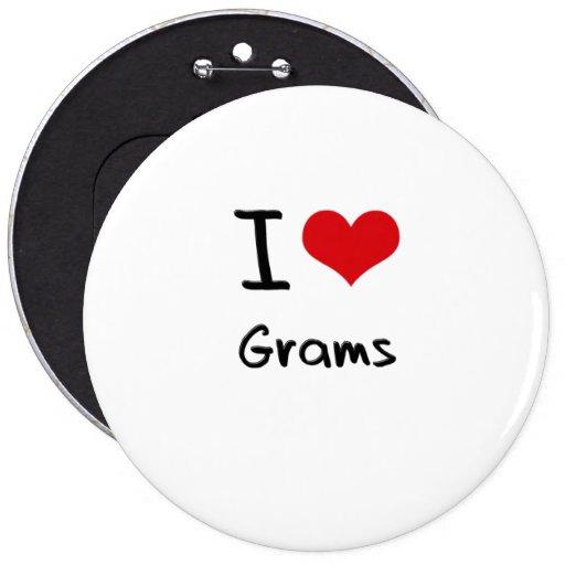 I Love Grams Pinback Button