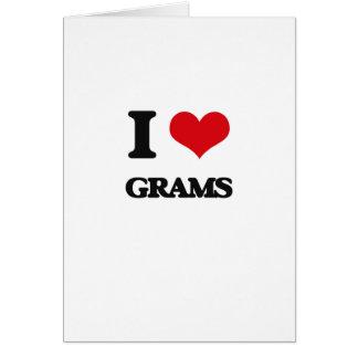 I love Grams Greeting Card