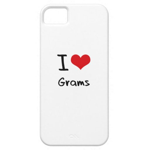 I Love Grams iPhone 5/5S Cases