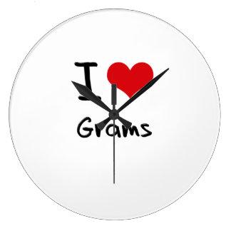 I Love Grams Wall Clock