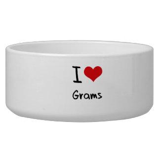 I Love Grams Dog Bowl