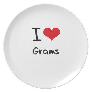 I Love Grams Dinner Plate