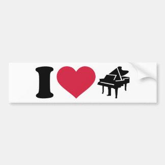 I love grand piano bumper sticker
