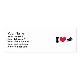 I love grand piano business card template