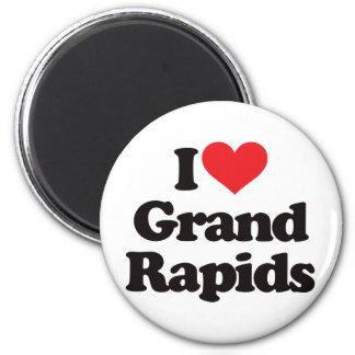 I Love Grand Rapids 6 Cm Round Magnet