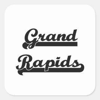 I love Grand Rapids Michigan Classic Design Square Sticker