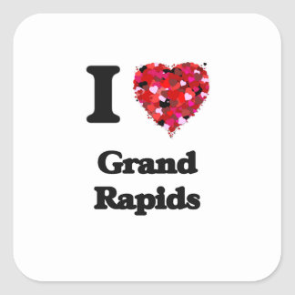 I love Grand Rapids Michigan Square Sticker