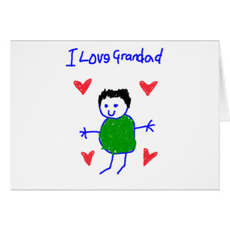 I Love Grandad Card