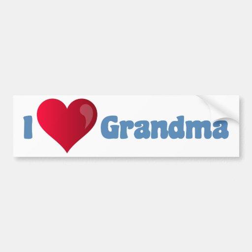 I Love Grandma Bumper Stickers
