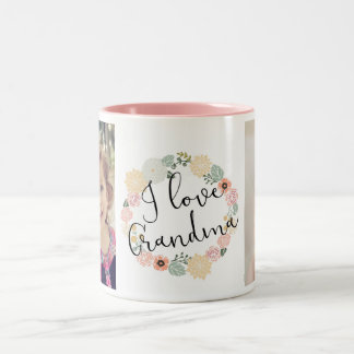 I Love Grandma Custom Photo Mug