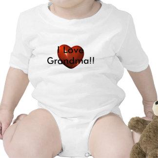 I Love Grandma heart Logo Infant Creeper