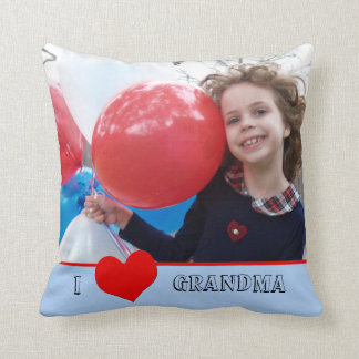 I Love Grandma Photo Pillow Gift for Grandma