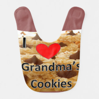 I love grandma's cookies bib