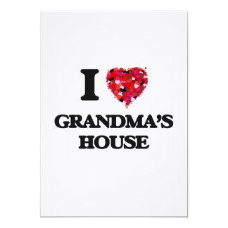 I love Grandma'S House 13 Cm X 18 Cm Invitation Card
