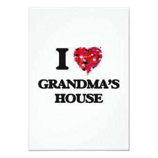 I love Grandma'S House 9 Cm X 13 Cm Invitation Card