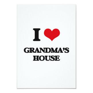 I love Grandma'S House 3.5x5 Paper Invitation Card