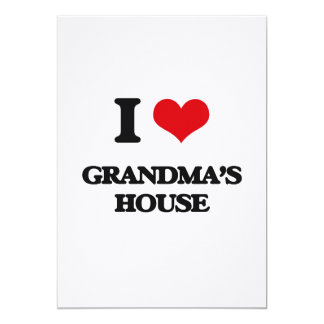 I love Grandma'S House 5x7 Paper Invitation Card