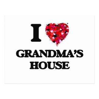 I love Grandma'S House Postcard
