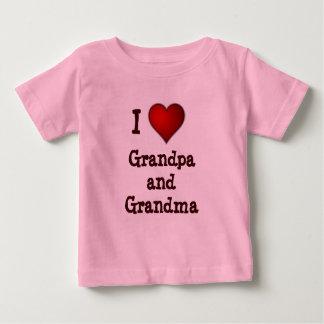 I Love grandpa and grandma infant/toddler shirt